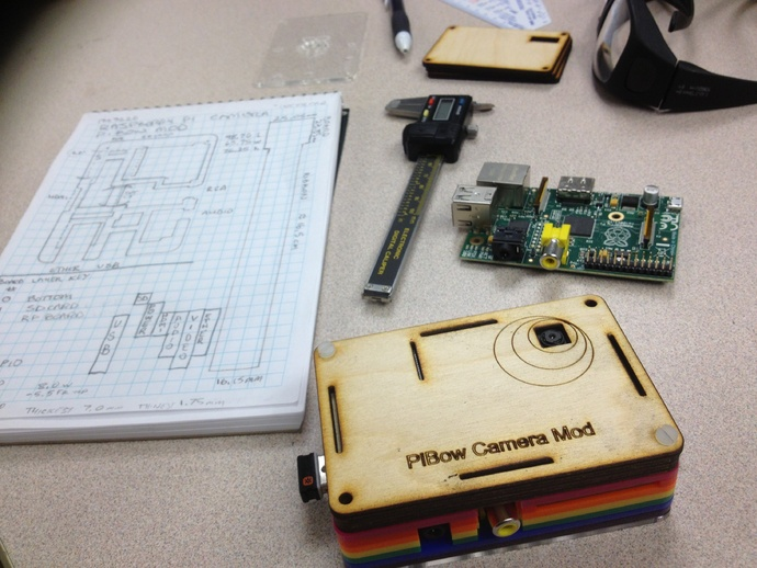 Raspberry Pi 相机模型 3D打印模型渲染图