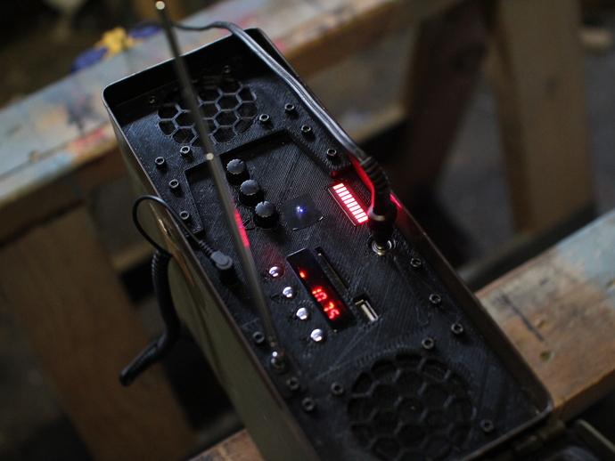 音响面板 3D打印模型渲染图