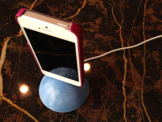 iPhone 5球形手机座 3D打印模型渲染图
