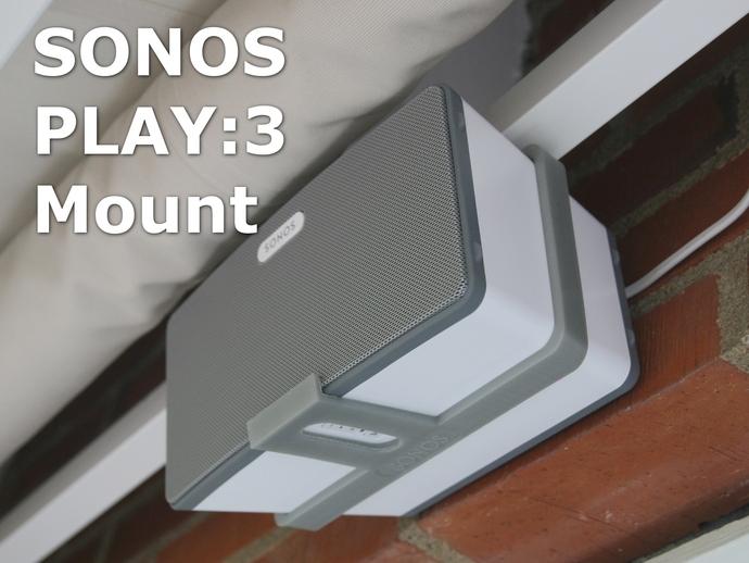 Sonos PLAY支架 3D打印模型渲染图