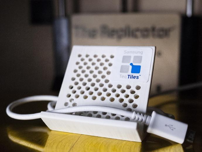 可充电手机座 3D打印模型渲染图