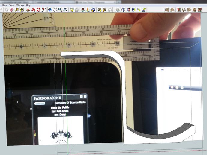 iMac耳机支架 3D打印模型渲染图