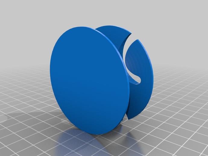 耳机绕线器 3D打印模型渲染图