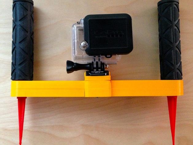 GoPro支架 3D打印模型渲染图