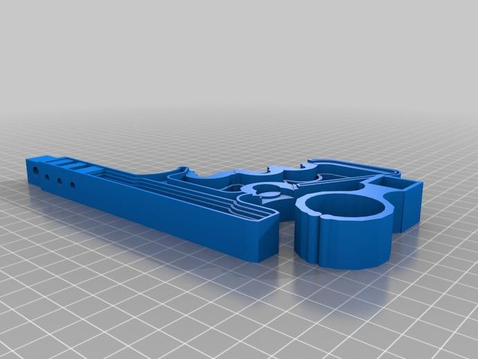 手握气枪支架 3D打印模型渲染图