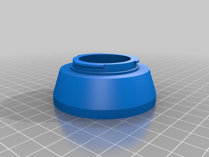 三星 尼康相机适配器 3D打印模型渲染图