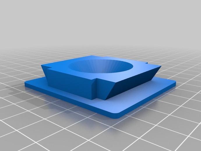 Rectangular-ish三脚架适配器 3D打印模型渲染图