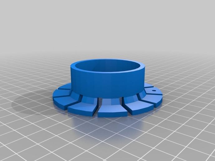 圆形绕线器 3D打印模型渲染图