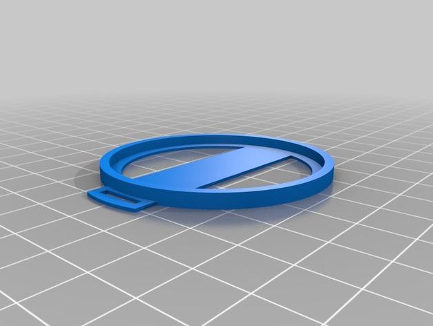 Sony nex镜头盖 3D打印模型渲染图