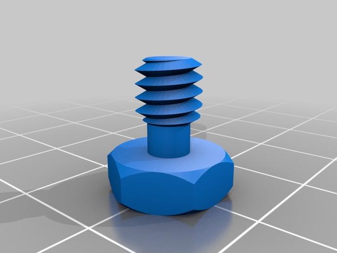 摄影设备螺丝 3D打印模型渲染图