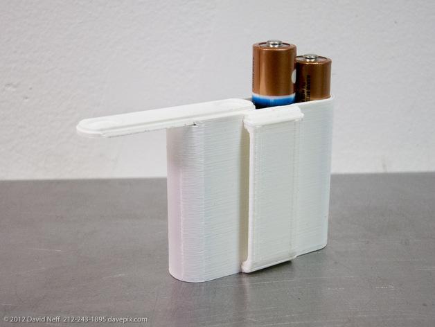 AA电池收纳盒