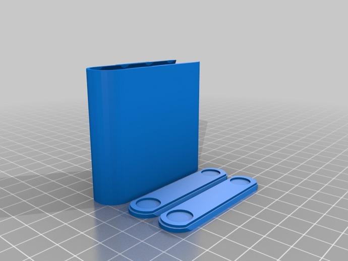 AA电池收纳盒 3D打印模型渲染图