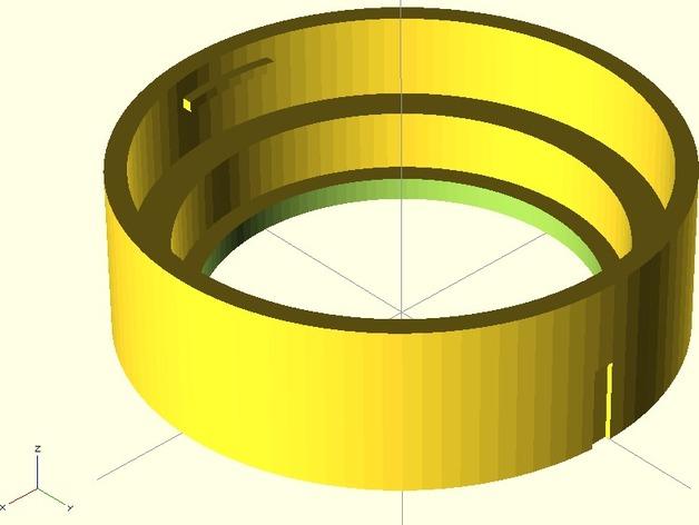 GoPro 镜头 3D打印模型渲染图