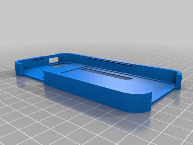 带卡槽的iPhone 5 手机壳 3D打印模型渲染图