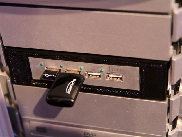 Floppy Drive 3.5适配器 3D打印模型渲染图