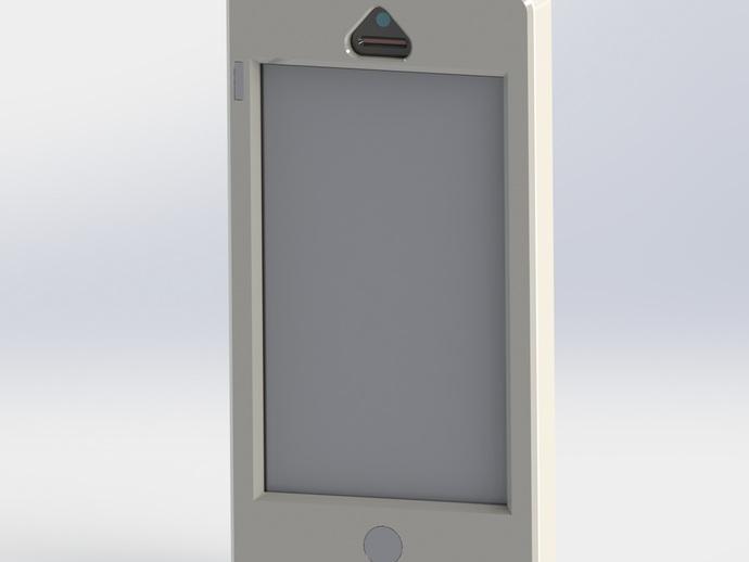 iPhone 5保护壳 3D打印模型渲染图