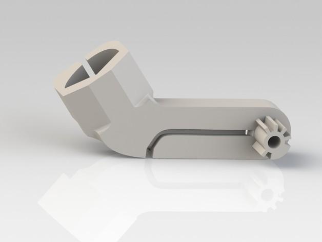 Logitech G930替换支架 3D打印模型渲染图