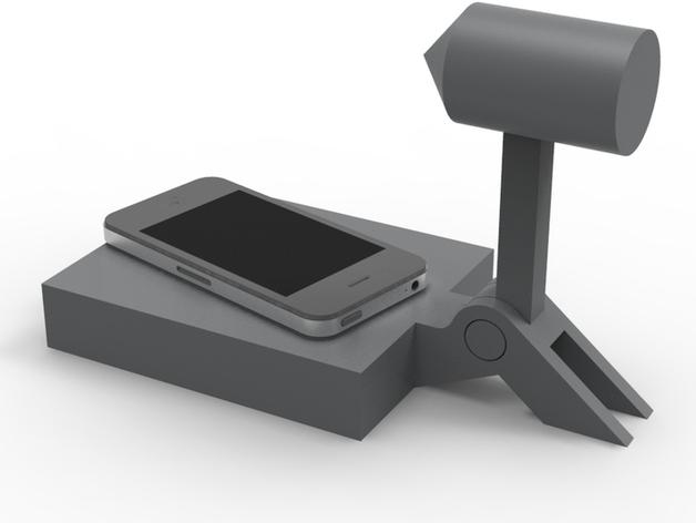 iPhone手机座 3D打印模型渲染图