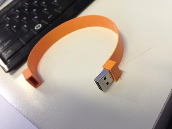 USB手环 3D打印模型渲染图
