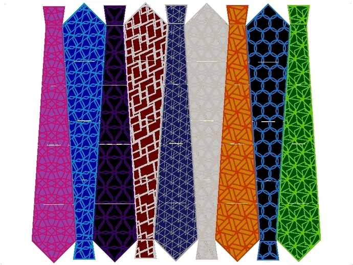 领带 3D打印模型渲染图