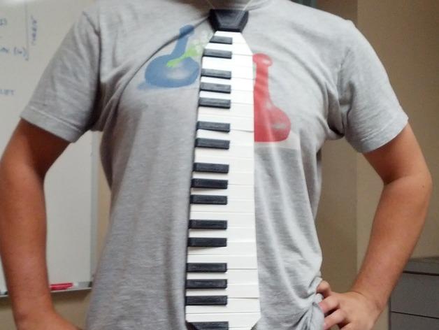 钢琴键领带