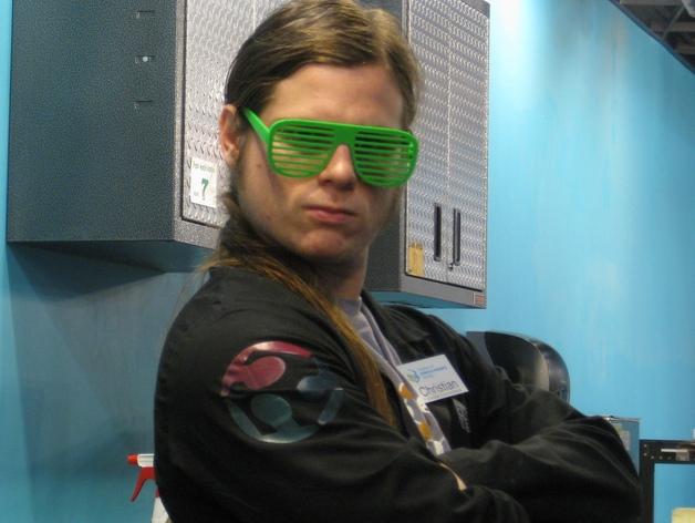 百叶窗式眼镜 3D打印模型渲染图