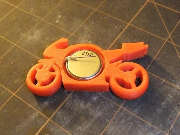 可发光的摩托车形钥匙扣