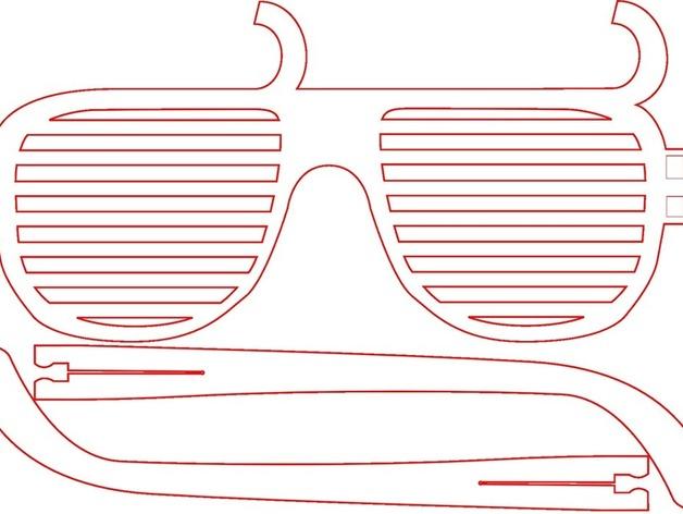 个性化百叶窗眼镜