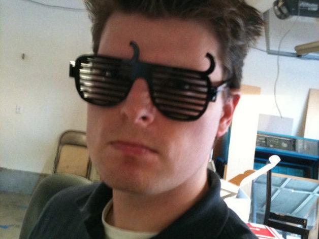 个性化百叶窗眼镜 3D打印模型渲染图