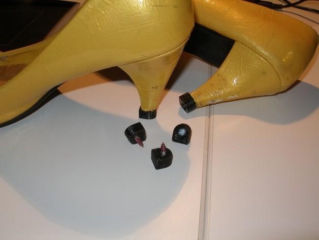 可更换的高跟鞋鞋跟 3D打印模型渲染图