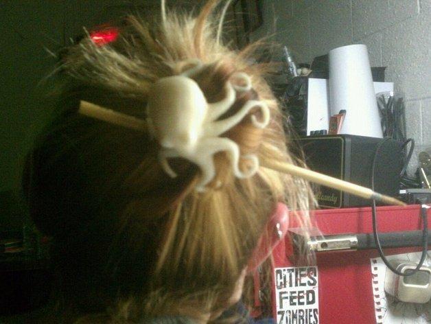 章鱼形圆髻发型发饰装饰品