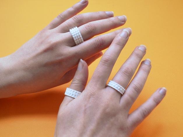 个性化戒指 3D打印模型渲染图