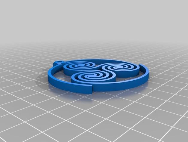 三重螺旋形耳环