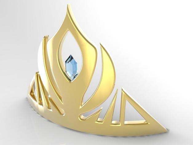 冰雪奇缘:埃尔莎皇冠头饰 3D打印模型渲染图