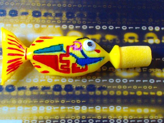 宝贝鱼耳塞 3D打印模型渲染图