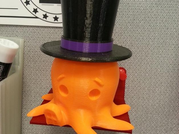 Octo章鱼大礼帽 3D打印模型渲染图