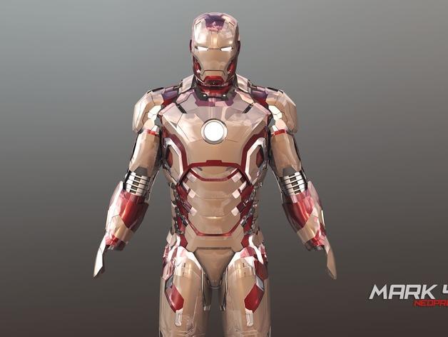 钢铁侠头盔Mk42 3D打印模型渲染图