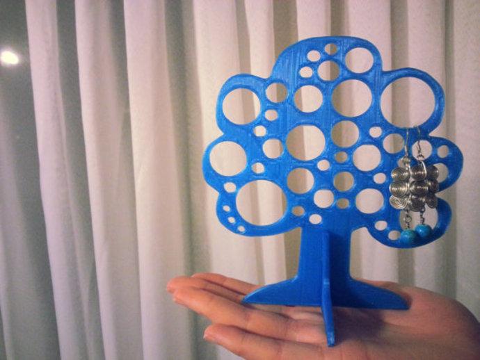 树形珠宝首饰架 3D打印模型渲染图