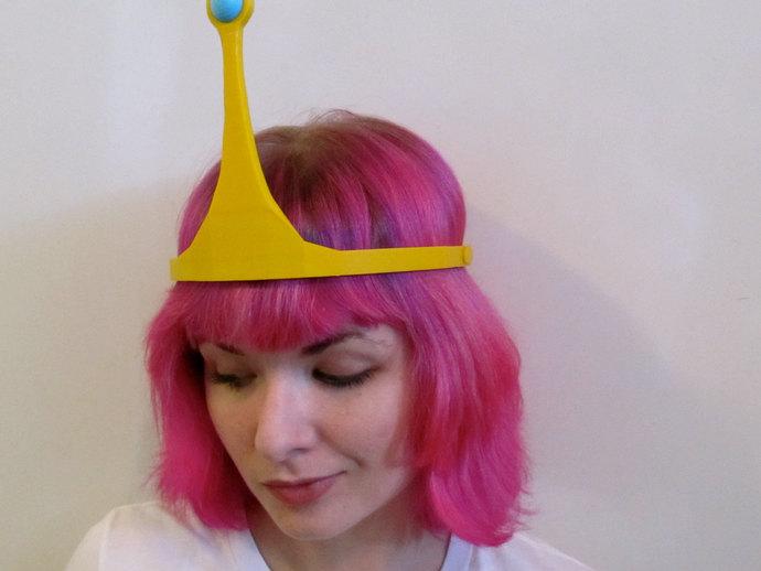 动画《探险时光》泡泡糖公主皇冠 3D打印模型渲染图