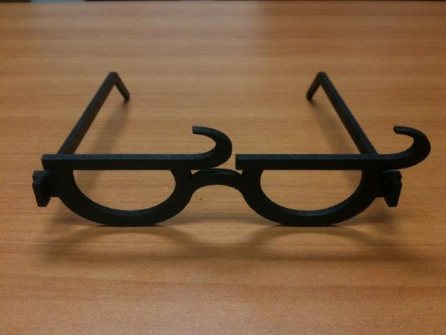个性化眼镜框 3D打印模型渲染图