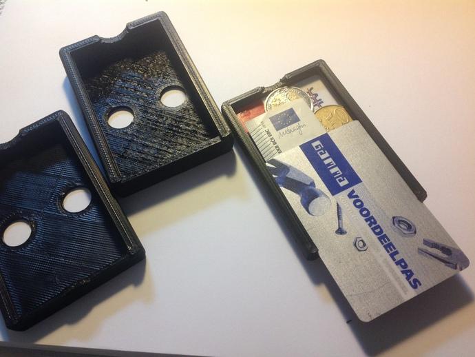 个性化方形钱包盒 3D打印模型渲染图