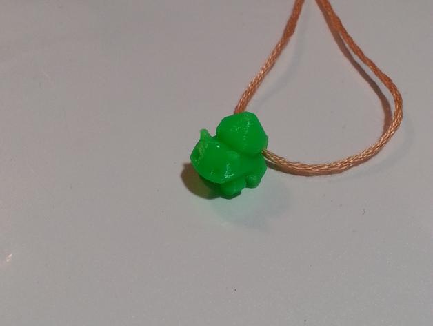 妙蛙种子项链 3D打印模型渲染图