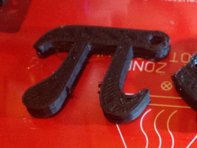 圆周率π钥匙扣/背包装饰品 3D打印模型渲染图