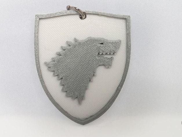 史塔克Stark钥匙扣 3D打印模型渲染图
