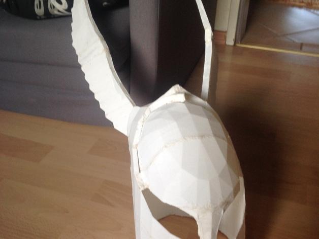 暗黑之魂 骑士头盔 3D打印模型渲染图