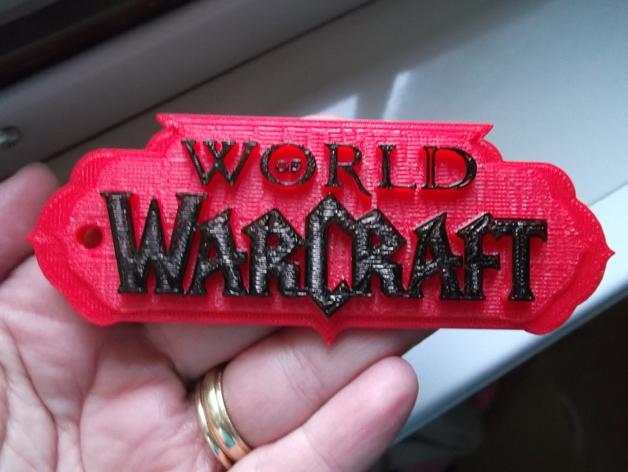 wow 钥匙扣 3D打印模型渲染图
