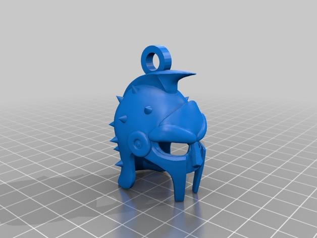 角斗士头盔 钥匙扣 吊坠 3D打印模型渲染图