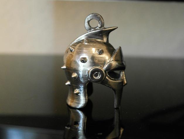 角斗士头盔 钥匙扣 吊坠