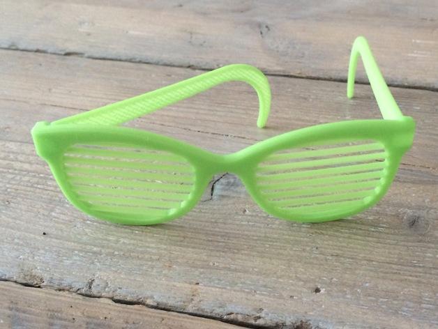 百叶窗眼镜 3D打印模型渲染图