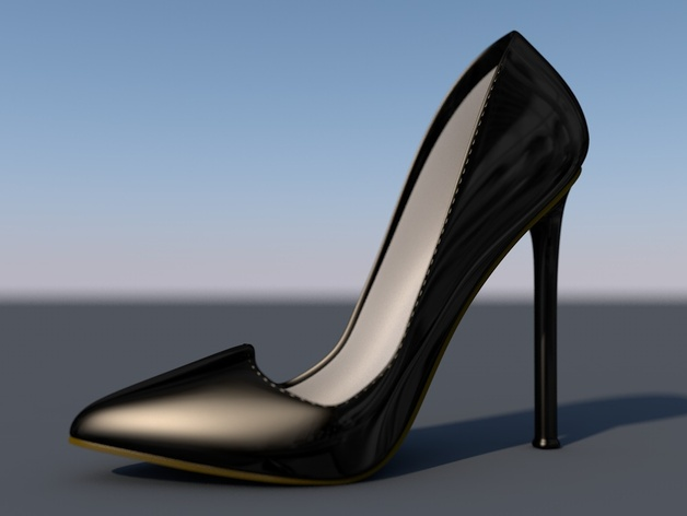 Pigalle高跟鞋 3D打印模型渲染图